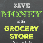 Practical tips to save money at the grocery store. Includes a meal planning worksheet and matching (editable) grocery shopping list!