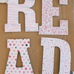 Easy method to decoupage letters. These letters look great in a child's room or nursery!