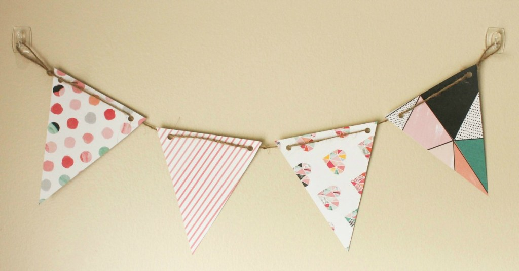 DIY Paper Pennant Banner (w/ Free Template)