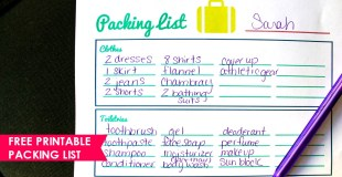 Planning Family Trips (Free Printable Packing List)