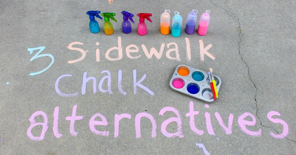 3 Sidewalk Chalk Alternatives
