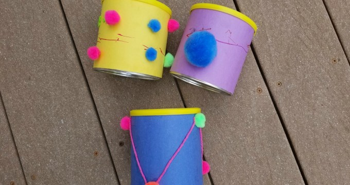 Recycled Canister Toddler Drum Craft