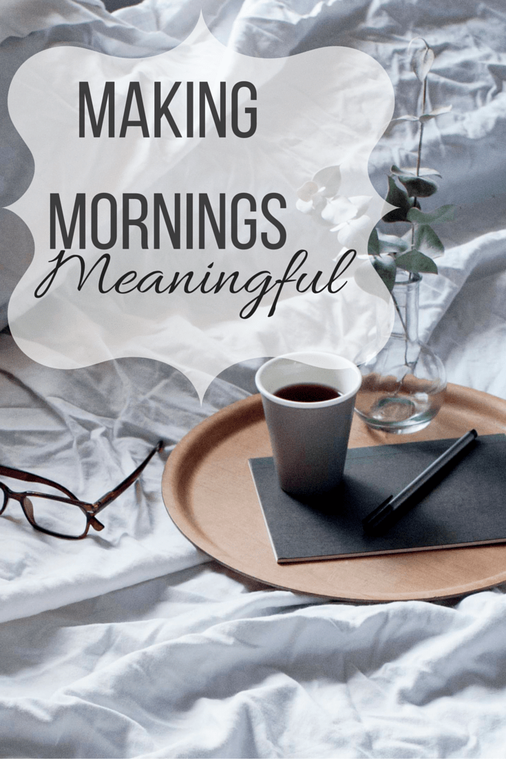 Making Mornings Meaningful - Plus a Coffee Giveaway!