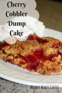 Cherry Cobbler Dump Cake Pinterest