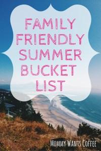 Family Friendly Summer Bucket List 2016 Pinterest