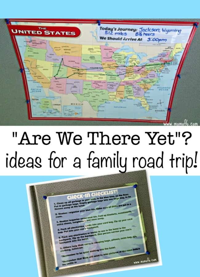 Are We There Yet? {Tracking Your Family Road Trip} - MomOf6