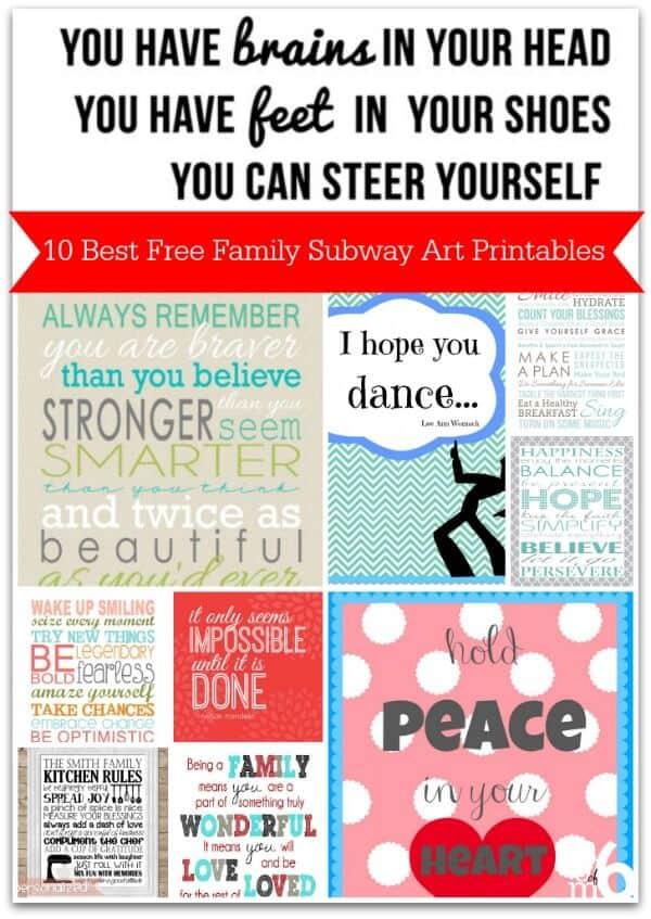 10 Best Free Family Subway Art Printables - MomOf6
