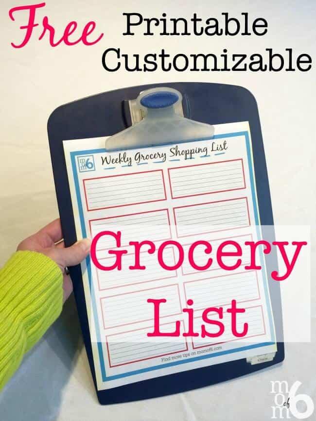 Printable Grocery List! - MomOf6