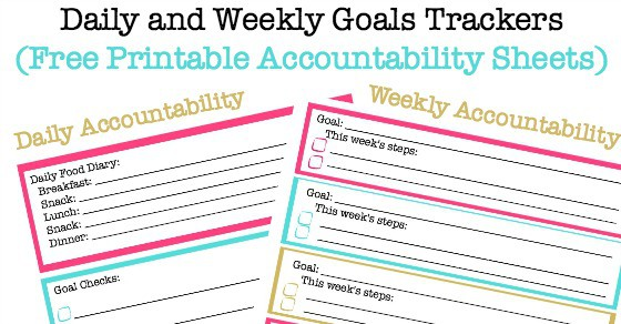 Daily Goals and Weekly Goals Tracking Sheets (Free Printable