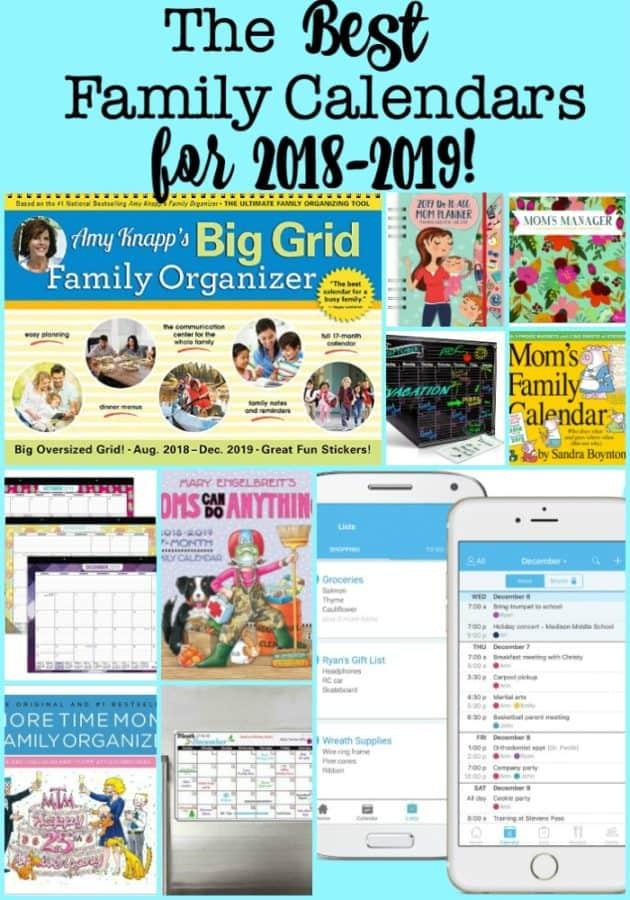 The Best Family Calendars for 2018-2019! - MomOf6
