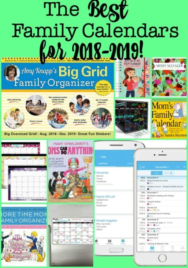 The Best Family Calendars for 2019! - MomOf6