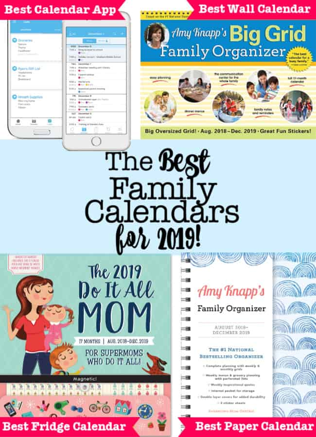 The Best Family Calendars for 2019! - MomOf6