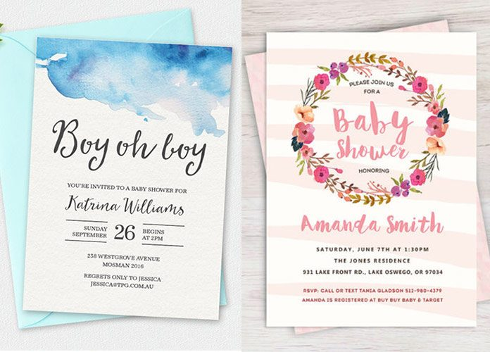 100+ Stunning Printable Baby Shower Invitations momooze - Printable Baby Shower Invite