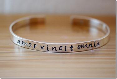 amor vincit omnia bracelet