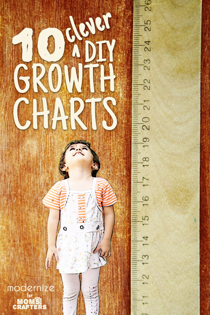 10 Clever DIY Growth Charts \u2013 Moms and Crafters