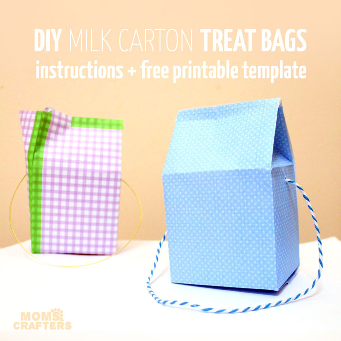 Milk Carton Treat Box (instructions + free template) - Milk Carton Template