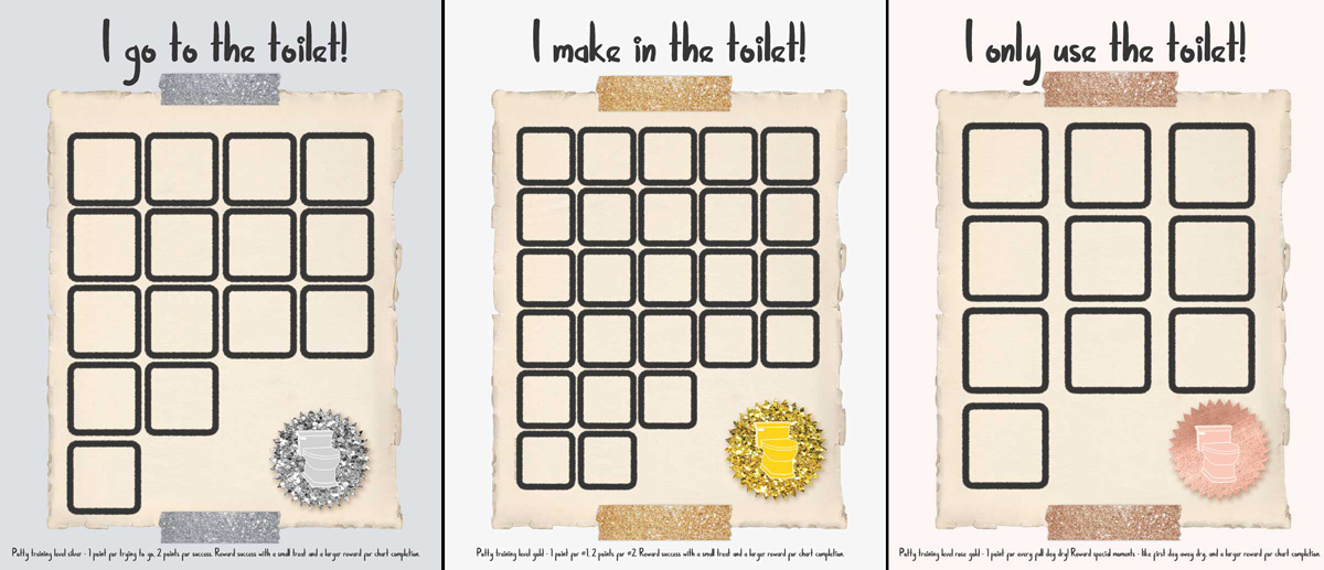 Potty Training Reward Charts and Awards \u2013 Moms and Crafters
