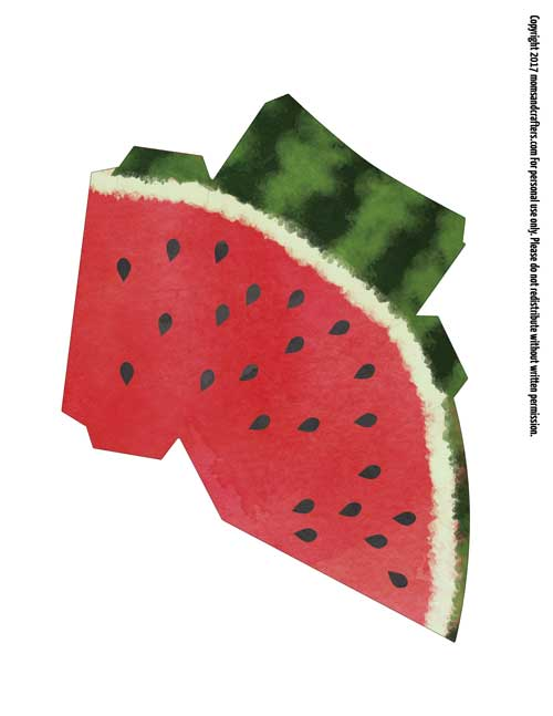 Paper Craft Templates for Play Fruit Watermelon \u2013 Moms and Crafters