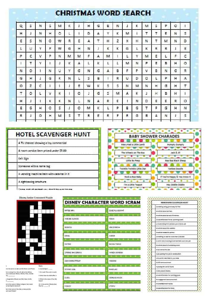 Printable Games for the Entire Family - Moms  Munchkins