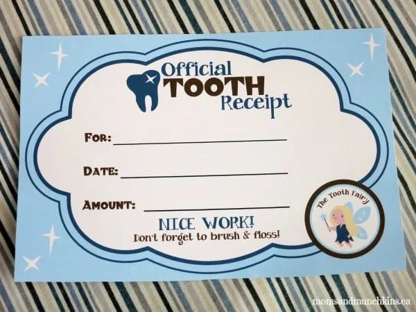 Tooth Fairy Ideas  Free Printables - Moms  Munchkins