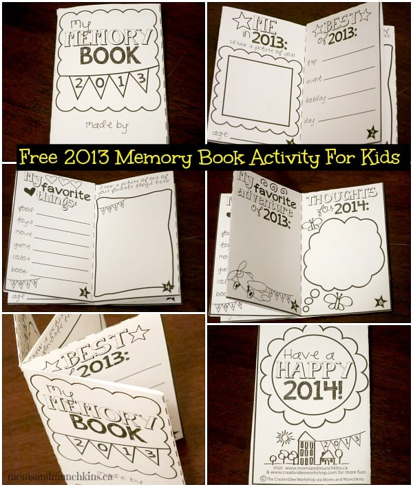 Free Memory Book for Kids (2013) - Moms  Munchkins