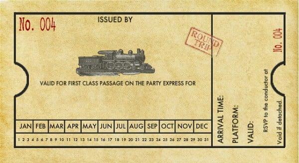 Train Ticket Invitation Template Free \u2013 orderecigsjuiceinfo