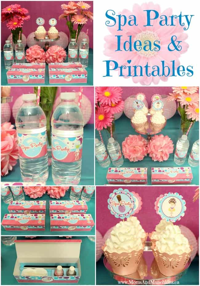Spa Party Ideas \ Printables - Moms \ Munchkins - spa ideas for home