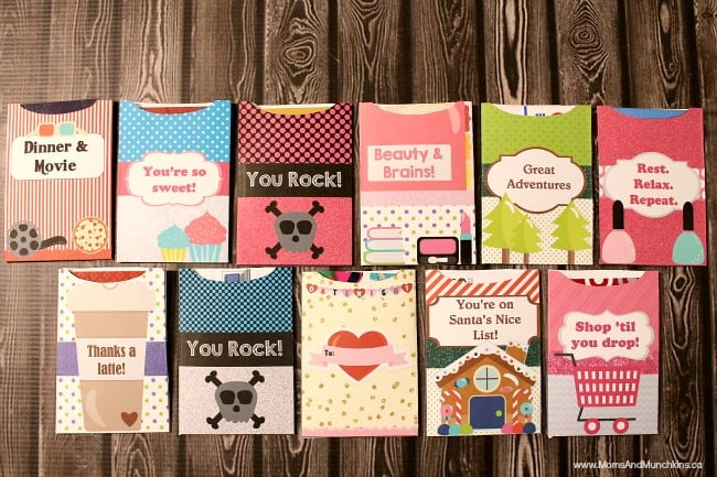 Free Printable Gift Card Holders - Moms  Munchkins