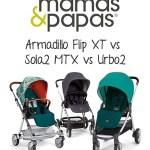Mamas & Papas Armadillo Flip XT vs Sola2 MTX vs Urbo2 Stroller Comparison