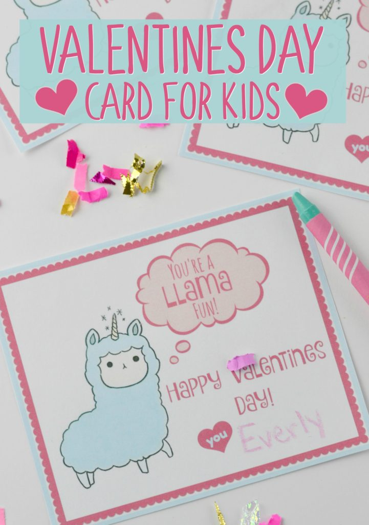 Valentines Day Card for Kids with Free Printable - Houston Mommy and