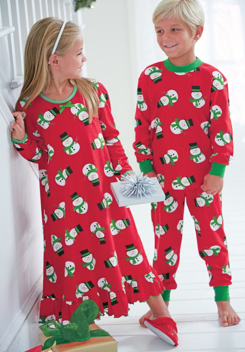 Traditional This Playful Snowmen Puff Sleeve Gown Pajamas Is A Pair ...