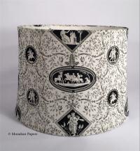 Black & White Toile Lamp Shades - BWTOILE