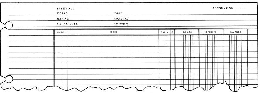Ledger Sheet Debit, Credit  Balance Green-Tint 1002-J  Monarch