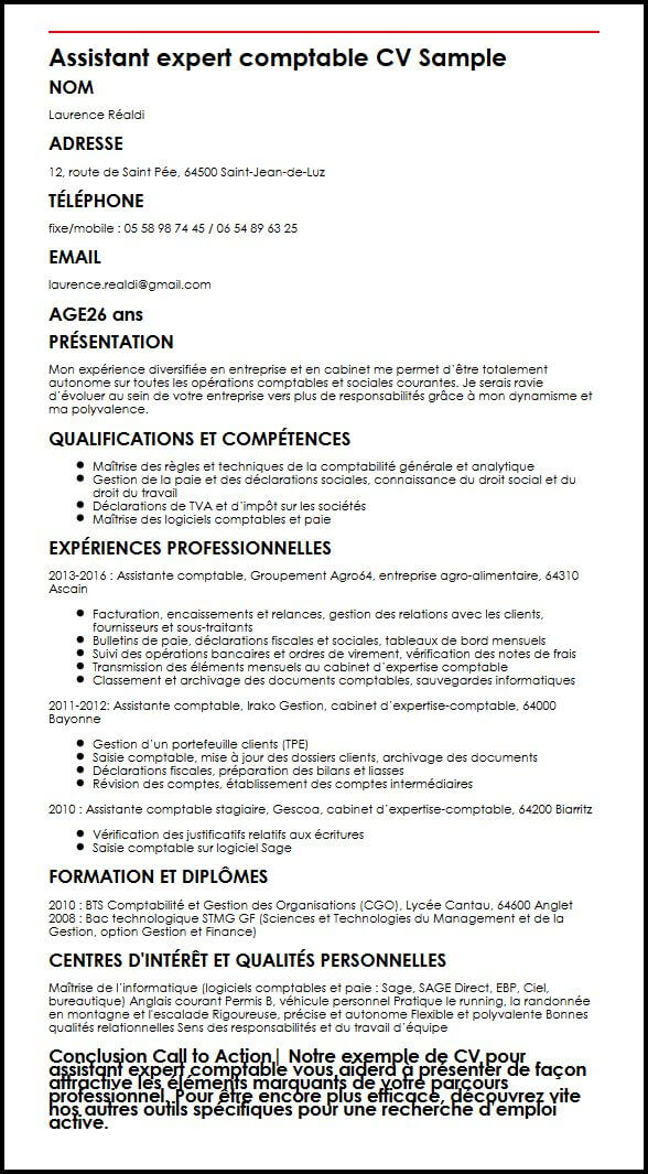 donner un nom original a son cv comptable