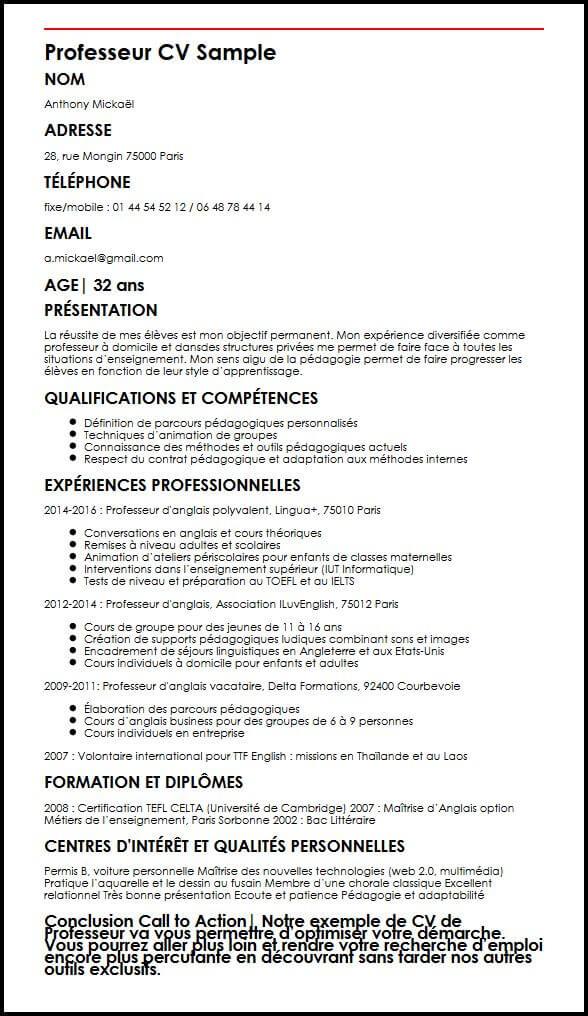 competences personalite cv