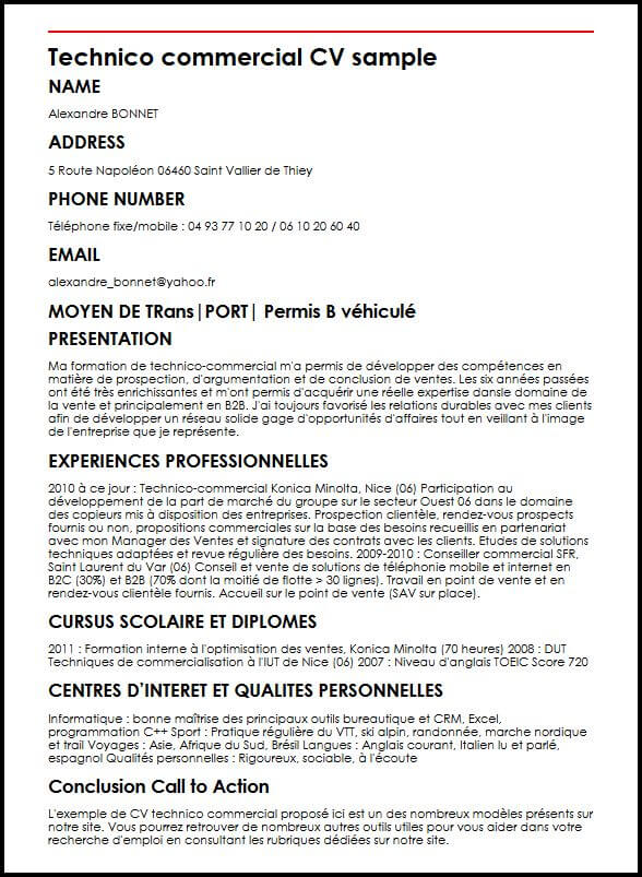 cv competences ingenieur informatique