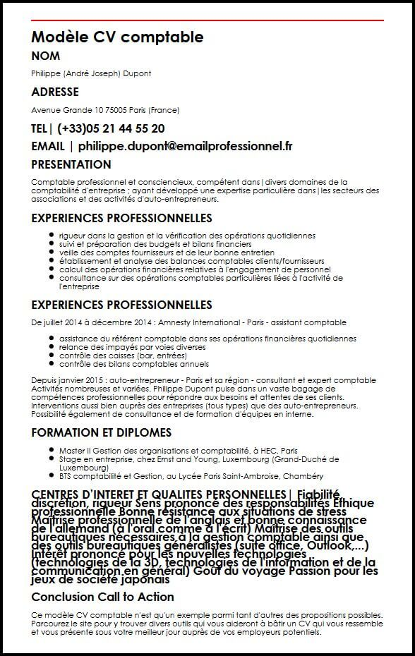 cv assistant comptable alternance