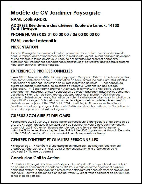 competence cv ouvrier agricole