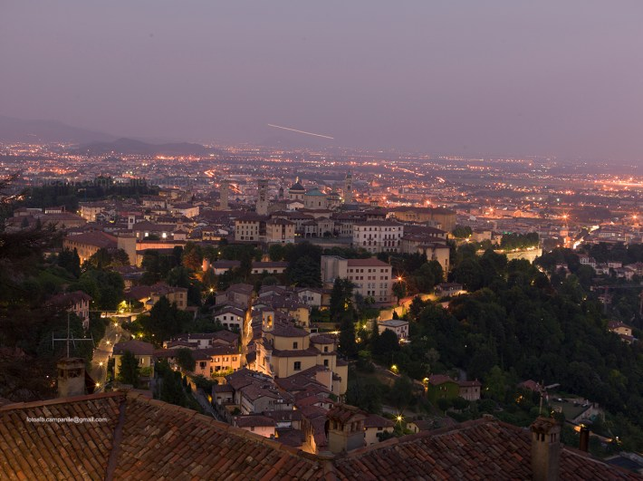 View of the city, Bergamo, Lombardy, Italy, Italia; Europe