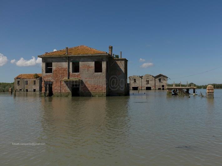 House, Batteria island, Po river, Porto Tolle, Polesine, Veneto, Italy, Europe