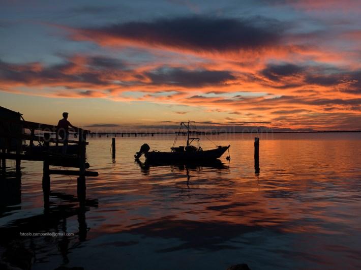 Fishermen house, Scardovari, Porto tolle, Polesine, Veneto, Italy, Europe