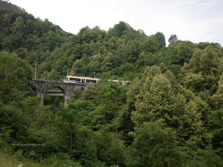 Dall'Italia alla Svizzera sul trenino bianco e blu