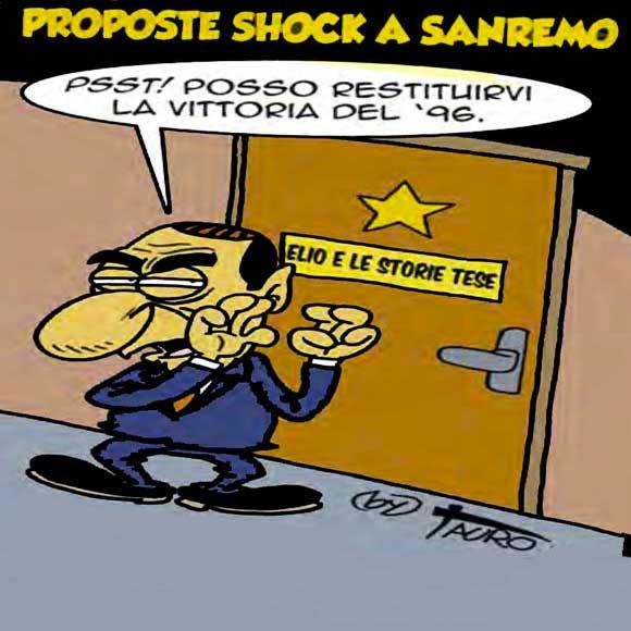 Sanremo-Berlusconi