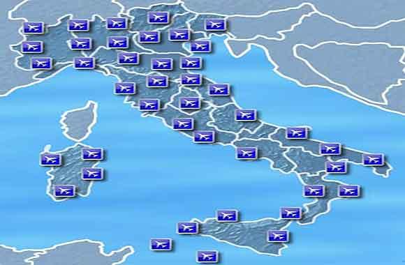 Mappa aeroporti italiani