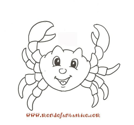 Disegna e colora un granchio for Pesci da colorare e stampare per bambini