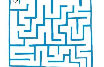 Giochi: labirinto per bambini con le nuvole
