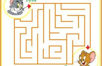 Labirinto per bambini 5 anni – micio Tom e il topolino Jerry