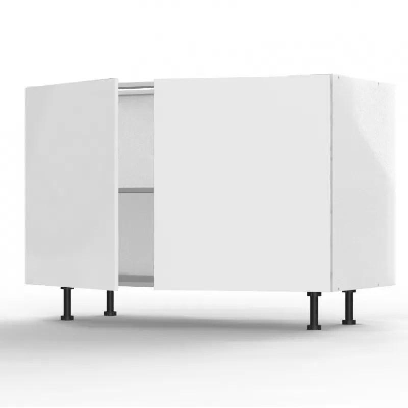 Mon Espace Maison - Meuble bas cuisine blanc brillant largeur 120cm