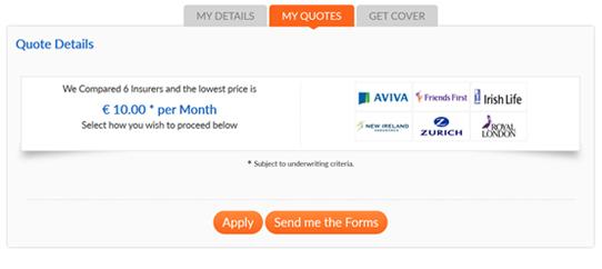 Money Advice - Ireland - price quotations