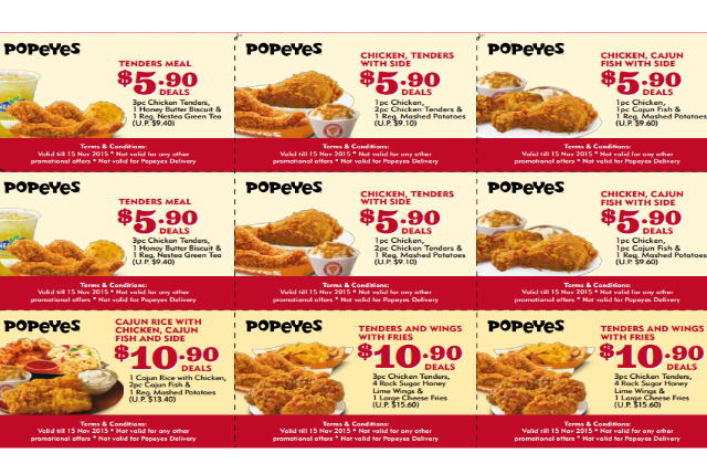 photograph regarding Popeyes Printable Coupons identify Popeyes relatives bundle coupon codes - Coupon wholesale maritime